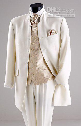 Ivory And Gold Wedding Tuxedos