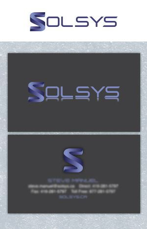 Solsys Logo and Business Card designed by Fusion Studios Inc.