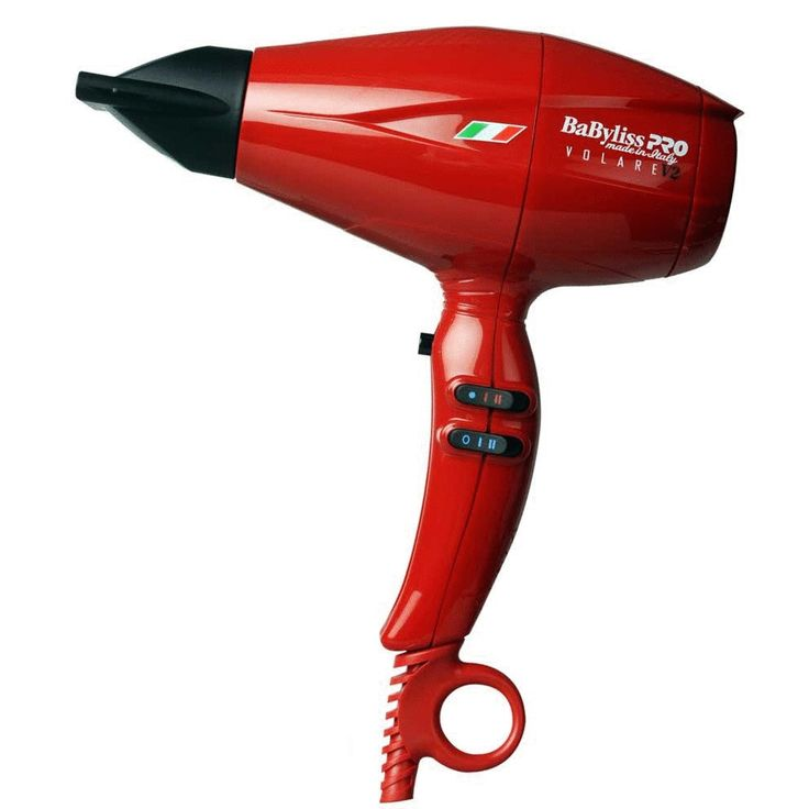 BABYLISS PRO V2 VOLARE BLOW DRYER  ON SALE!!!****** The Grand Prix of Styling Medium Size Dryer  Ferrari Designed Engine  Patent-Pending Designed  Nano Titanium  Long Life  Superior Air Pressure  Turbo Power Professional Luxury Dryer  Comes with 2 Ultra Thin 6.5mm Nozzles-Great For Eliminating Frizz  6 Heat and Speed Controls  9 Foot Tangle Free Cord  2000 Watt AC Ferrari Designed  Made in Italy ON SALE FOR 149.95$ Reg price 219.99$