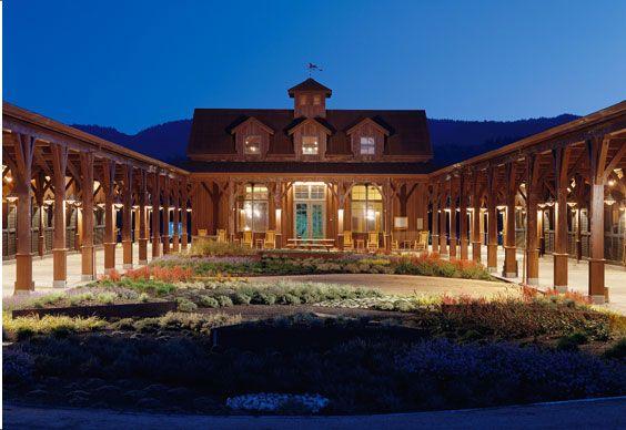 equestrian stable, Napa Valley, California, Backen, Gillam, Kroeger Architects.