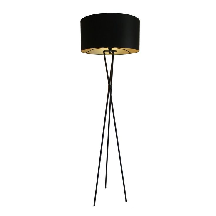 Mild Steel Powdercoated Black Floor Lamp. Shade: Matt black and Khaki Inside. This product is custom made.