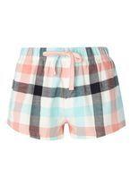 Womens Bunny Check Pyjama Shorts- Pink
