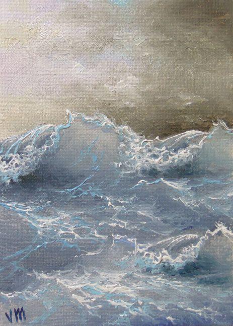 "187 - ""Charming Waves"",  5""x 7""  original giclee print"
