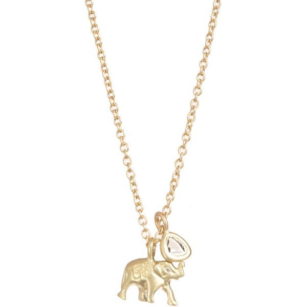 me gold u0026 diamond elephant pendant necklace found on polyvore