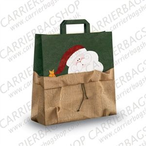 Santa's Sack Design Paper Carrier Bags