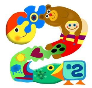 <3 pikku kakkonen <3 A childhood favourite show that broadcast on our Channel 2, this is the logo.