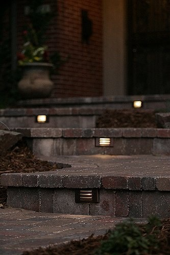 Outdoor lighting adds safety as well as ambiance