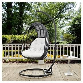 You'll be relaxing in style when you're sitting in this Whisk Outdoor Patio Swing Chair from Modway. Whether you're sitting on the back porch reading your favorite book or entertaining your friends and family, you'll love having this outdoor swing chair in your outdoor space. The weather-resistant qualities keep it looking as good as new so you can enjoy it for seasons to come.