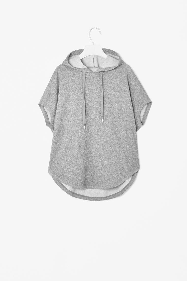Hooded melange sweatshirt