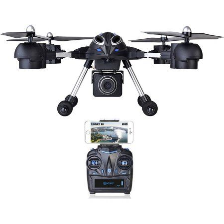 Contixo F10 Quadcopter RC Drone, 4 Channel, 2.4GHz, 6 Axis Gyro RTF, Support GoPro Hero Cameras (HD Camera Included)