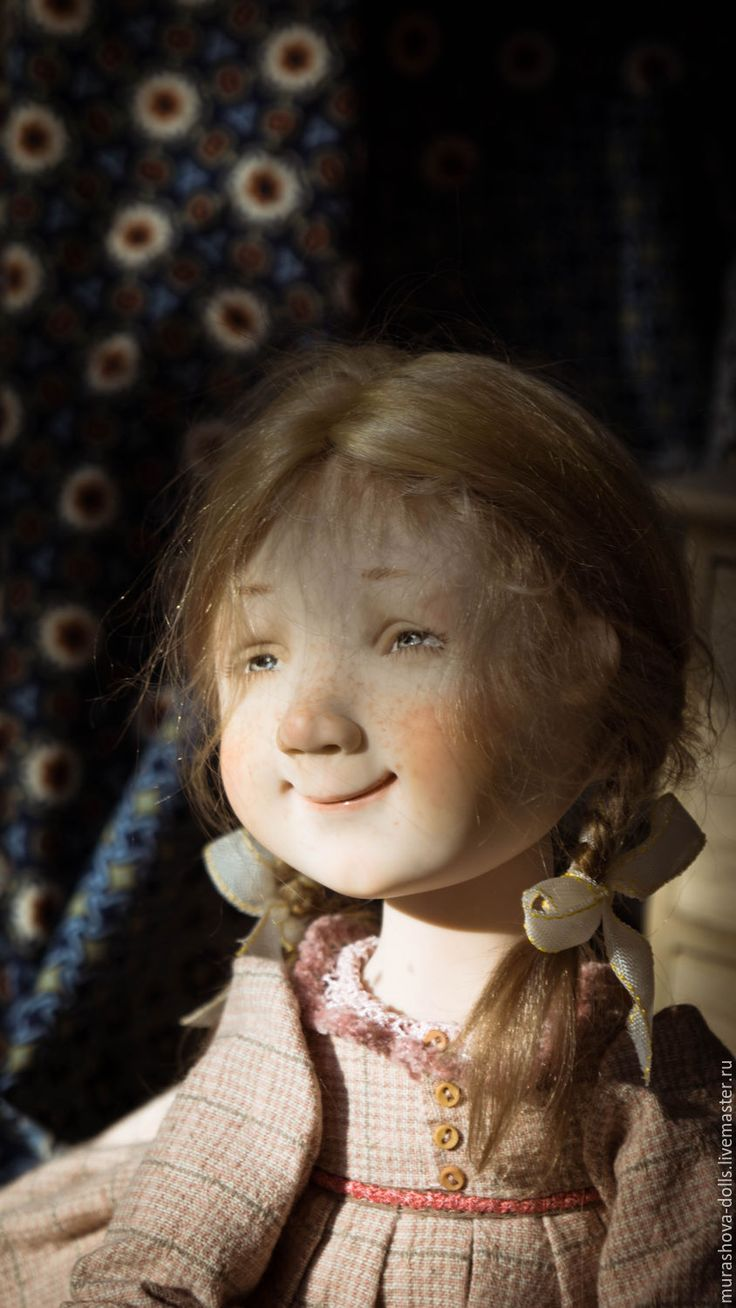 Купить Маковая плюшка - кремовый, болтушка, авторская ручная работа, авторская кукла, любить и жаловать