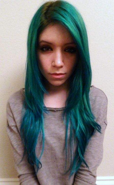 Enchanted Forest With Some Voodoo Blue On The Tips Manic Panic Pinterest Hair And