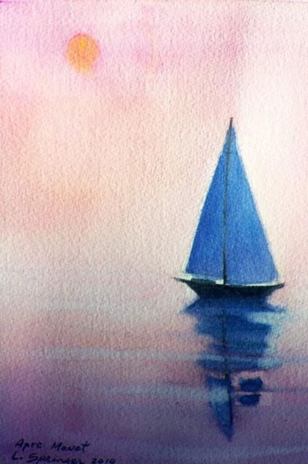 35 Easy Watercolor Landscape Painting Ideas To Try Akryl Maleri