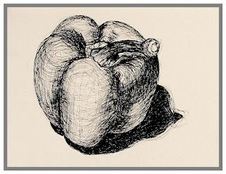 Art at Beaumont School: Year 10 GCSE observational biro drawing