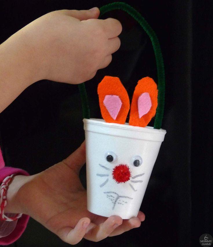 Φτιάξτε κουνελάκια καλαθάκια με πλαστικά ποτηράκια!