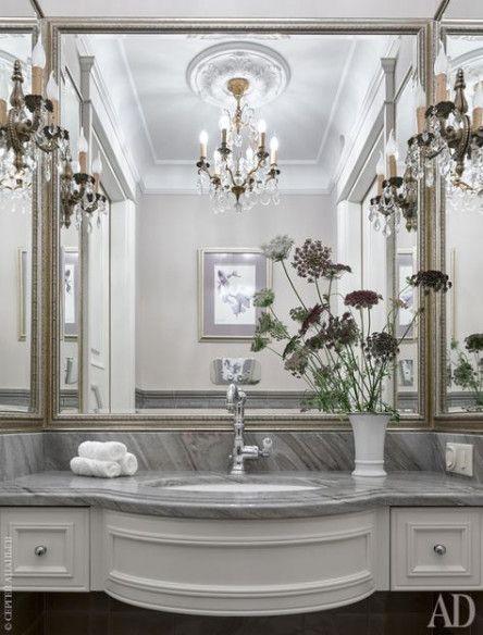 Home Design Classic Powder Rooms 41 Ideas
