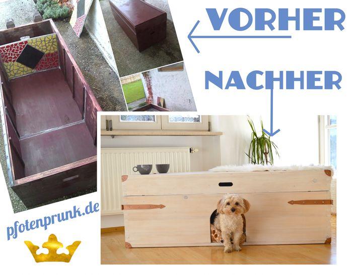 couchtisch und hundeh hle 2in1 kostenlose anleitung hundebett selbermachen hundekiste do it. Black Bedroom Furniture Sets. Home Design Ideas
