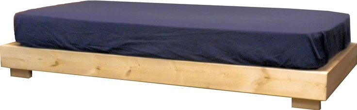 """Low Platform Bed.  This is a nice bed for kids going from a crib to their first youth bed. With its low height, it also makes a nice bed for sitting at in small dorms and bedrooms. With a 6"""" mattress the top is at 16"""" which is the same height as typical sofas. This bed is similar to Teddy Duncan's bed from the Disney TV show """"Good Luck Charlie"""".  Available in Twin, Twin XL, Full and Queen sizes.  Made in USA."""