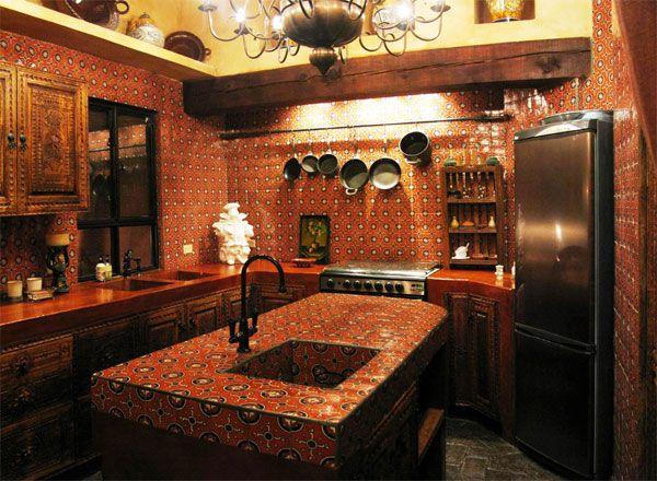 M s de 25 ideas incre bles sobre cocinas rusticas - Cocinas estilo colonial ...