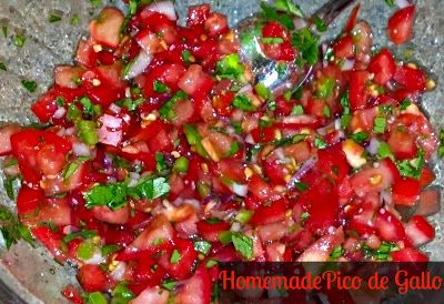 Homemade Pico de Gallo--super easy and tasty--Rachel Ray's recipe