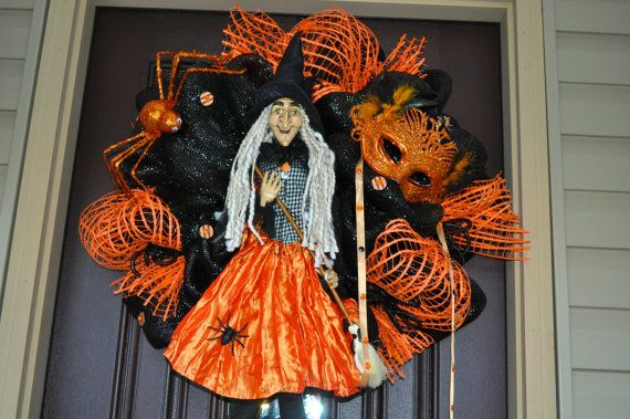 Halloween Witch Wreath Halloween Wreath by RedWithEnvyDesigns, $175.00
