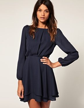 Image 1 of ASOS Mini Dress with Double Layer Skirt