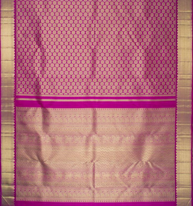 Kanakavalli Handwoven Kanjivaram Silk Sari : 010100017 - Bridal / Reception Saris - Parisera #south #indian #wedding #saree #bridal