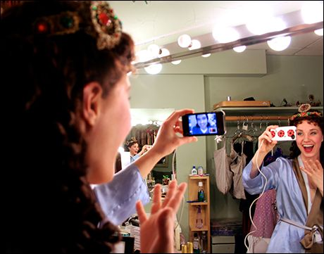Sierra Boggess Facetiming With Her Man Before The Second Show Of The Day!
