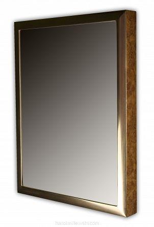 Custom picture frame with burr oak veneer