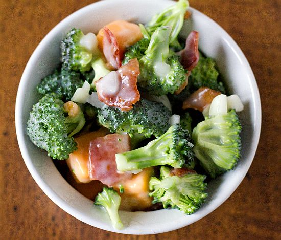 Broccoli Salad. Left out the onions, but Yummy! AV