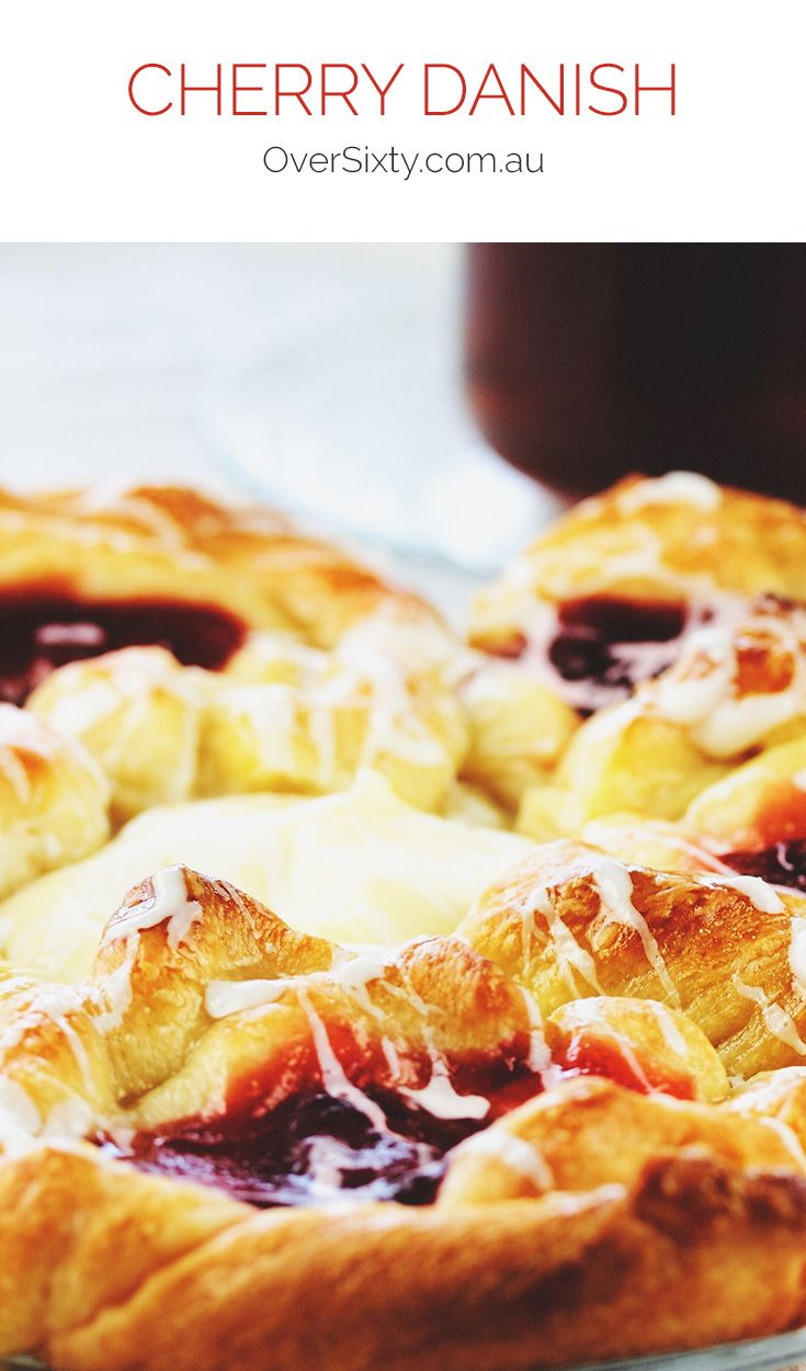 Cherry Danish - Satisfy your sweet tooth with these delicious layered pastry desserts, filled with irresistible cherry filling.