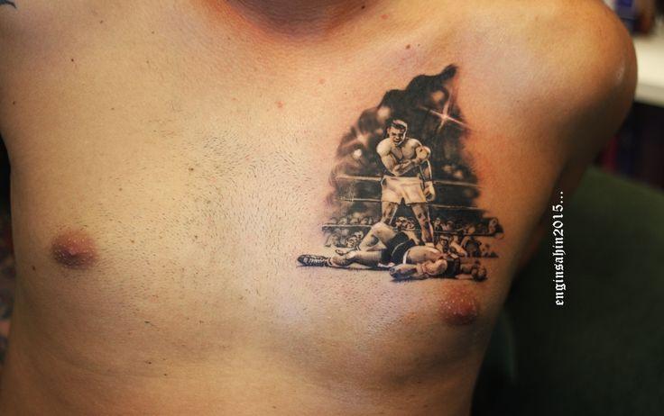 engin şahin - muhammed ali - tattoo - dövme - box tattoo - yumruk - knockout - dövme sanatı - artist - sanatçı - realistic tattoo - taksim dövme - art - sanat - göğüs dövmesi