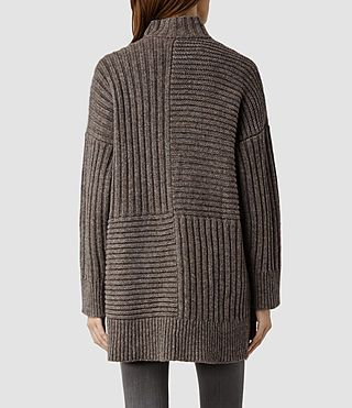 Womens Penryn Cardigan (Fawn) - product_image_alt_text_3