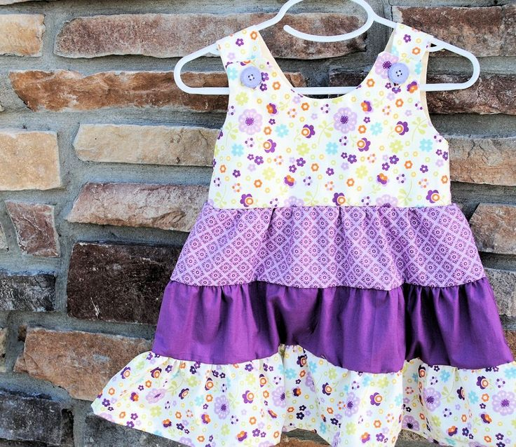 Crazy Little Projects: Tiered Ruffle Girl's Dress Tutorial and Pattern