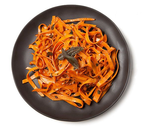 Sweet Potato Linguine. This recipe makes we want to go out and purchase a mandoline slicer now.