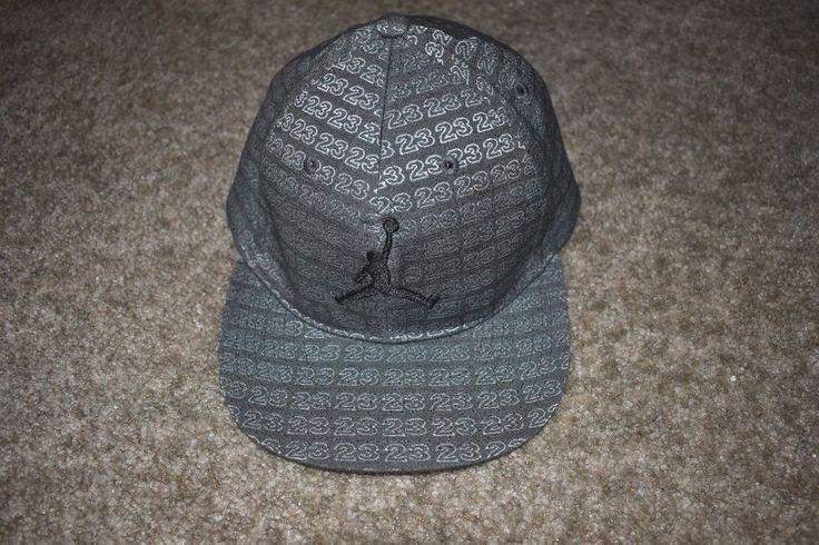 Michael Jordan 23 Hat Gray Black Jumpman Logo Nike Cap Hat Boys Youth #NikeJordan #BaseballCap