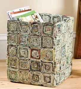 Storage Box  from Recycled Magazine