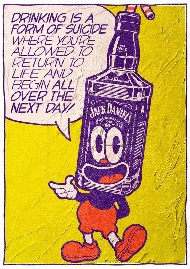 Bukowski: The Pop Art Series est le dernier projet du talentueux et prolifique illustrateur Butcher Billy, qui a décidé de mettre en scène des citations du célèbre et controversé écrivain Charles Bukowski dans des créations de Pop Art explosives et colorées ! J'adore. Bien sûr, je vous invite aussi à découvrir ses précédent projets.