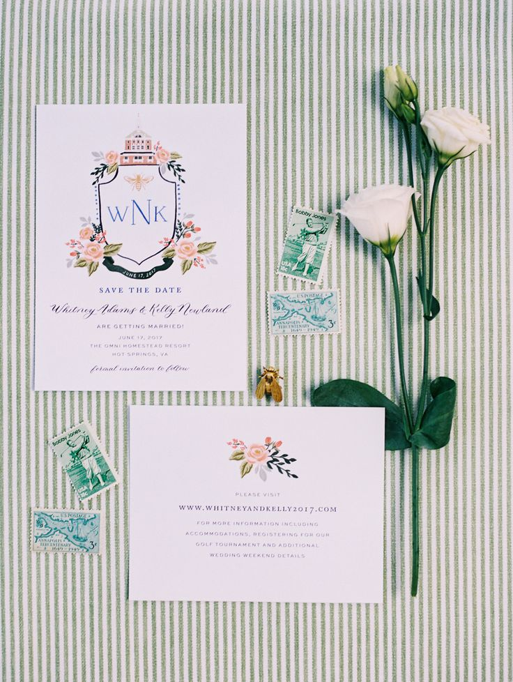 whimsical monogrammed preppy wedding invitations | Photography: Lisa Ziesing for Abby Jiu Photography