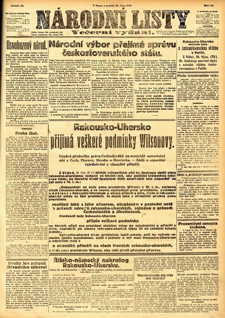 Narodni listy - prvni republika
