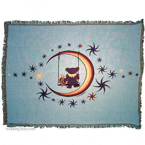 Grateful Dead - Moon Swing Throw Blanket. oh my gosh, this blanket is tooooo cute!!