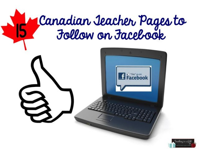Canadian Teacher Pages to Follow on Facebook