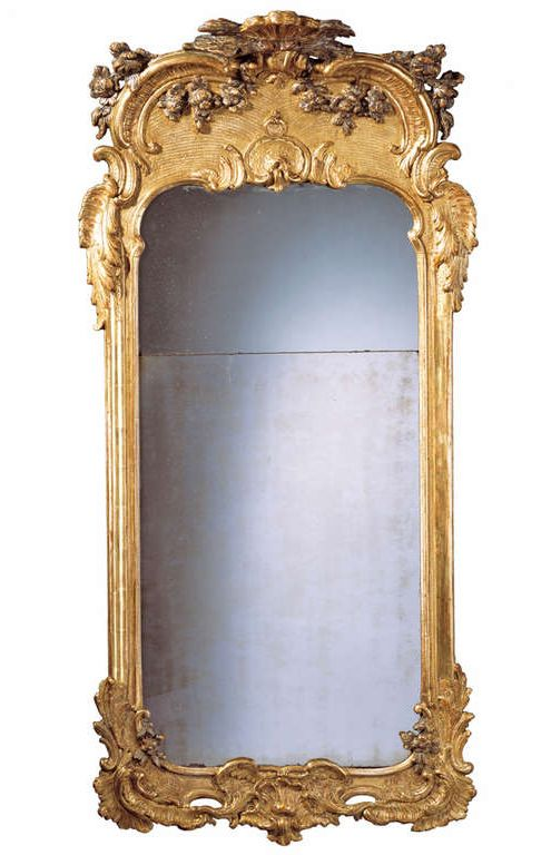 1stdibs | Superb 18th c. Swedish Rococo Silvered and Giltwood Mirror