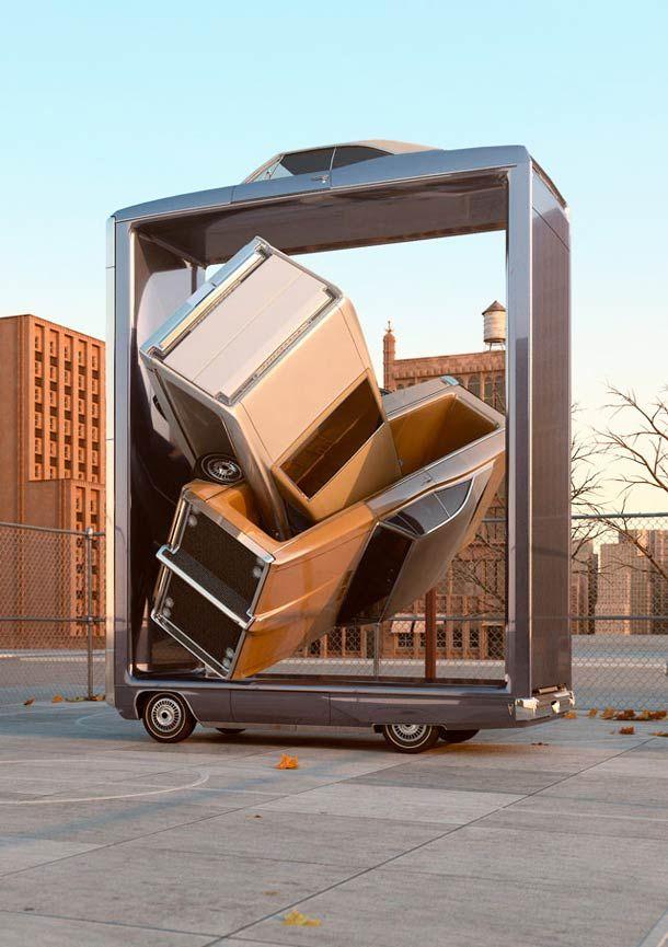 Auto Aerobics – Les voitures imbriquées de Chris LaBrooy