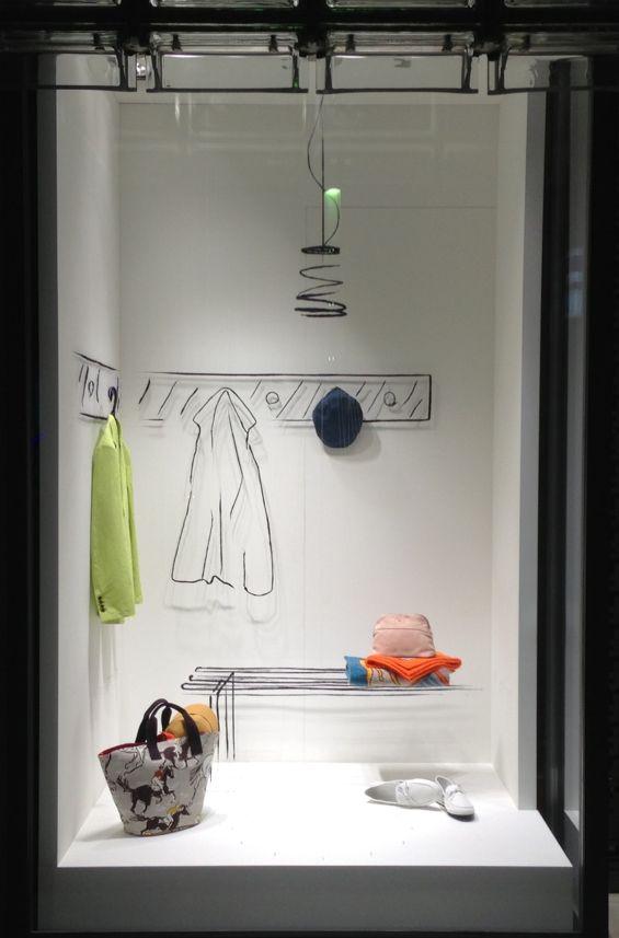"Simplicity at Hermés Tokyo, ""The Dressing Room"". #retail #merchandising #display"