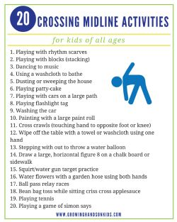 20 Crossing midline activities for kids free download