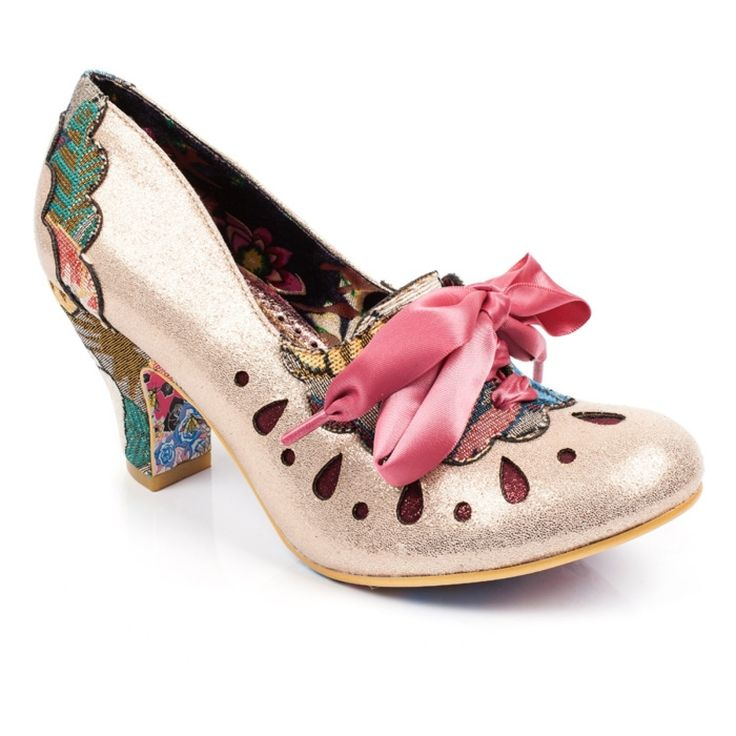 Featuring a glistening laser cut detail upper with tapestry sections and  heel, topped off ...