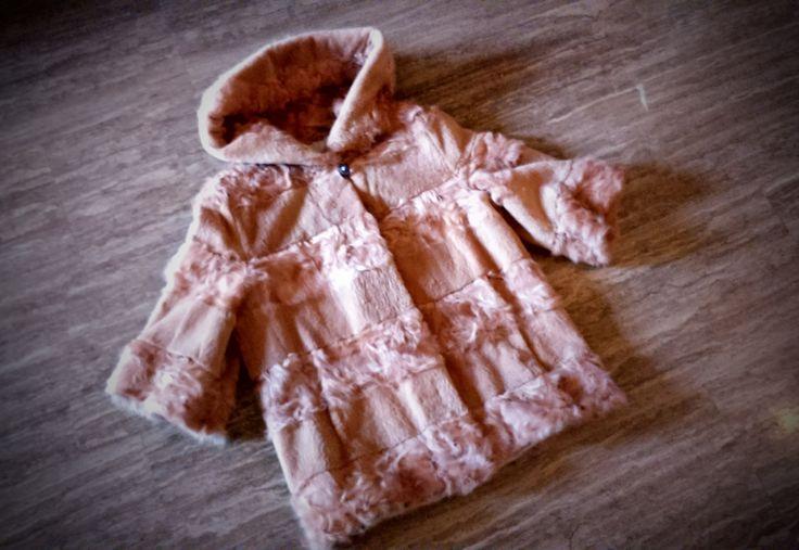 Fur jacket/ Real fur/ Goat fur/ Light pink color by ReginaFurs on Etsy