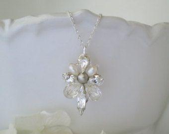 Collana di perle e strass Swarovski Y stile di BlingBaddaBoom