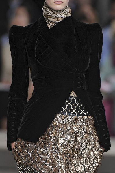 My obsession with riding jackets continues… tinaschoices: Givenchy at Couture Fall 2009